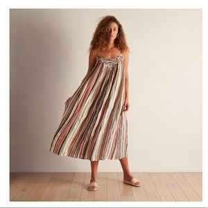The Odells Lattice Yoke Dress